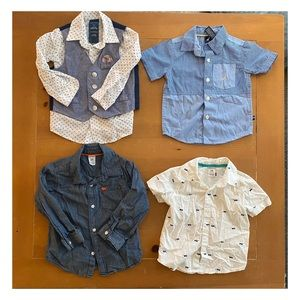 Long and short sleeve button ups.